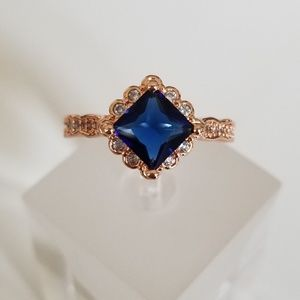 Jewelry - Rose & Simulated Sapphire Ring